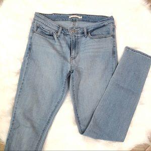 Levi's 711 Light Wash Skinny Jeans